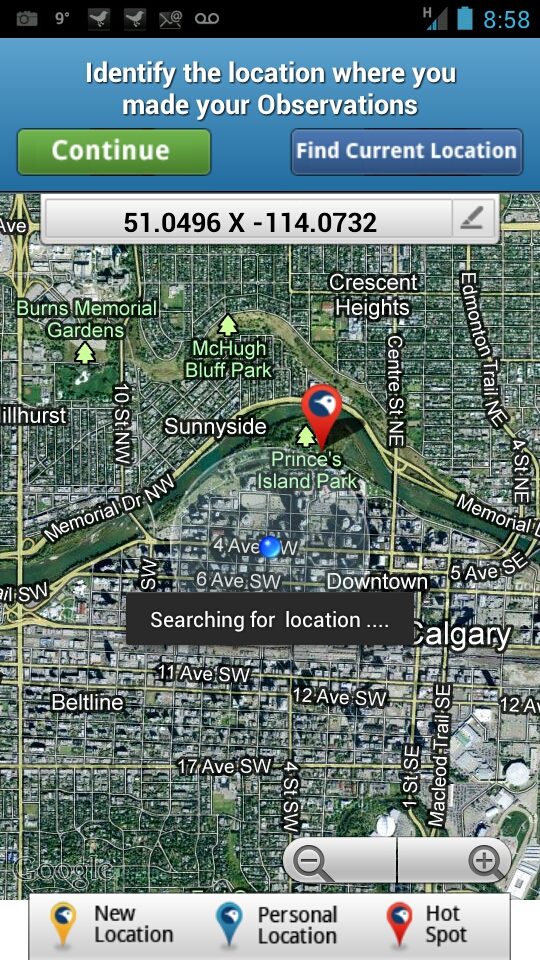 Current GPS Location