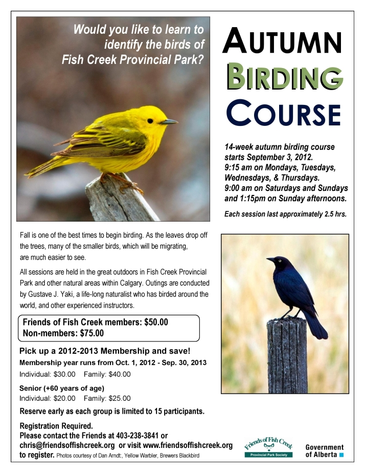 FCPP Autumn Birding Course
