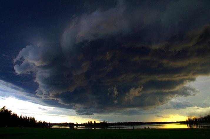 Storm over Astotin Lake