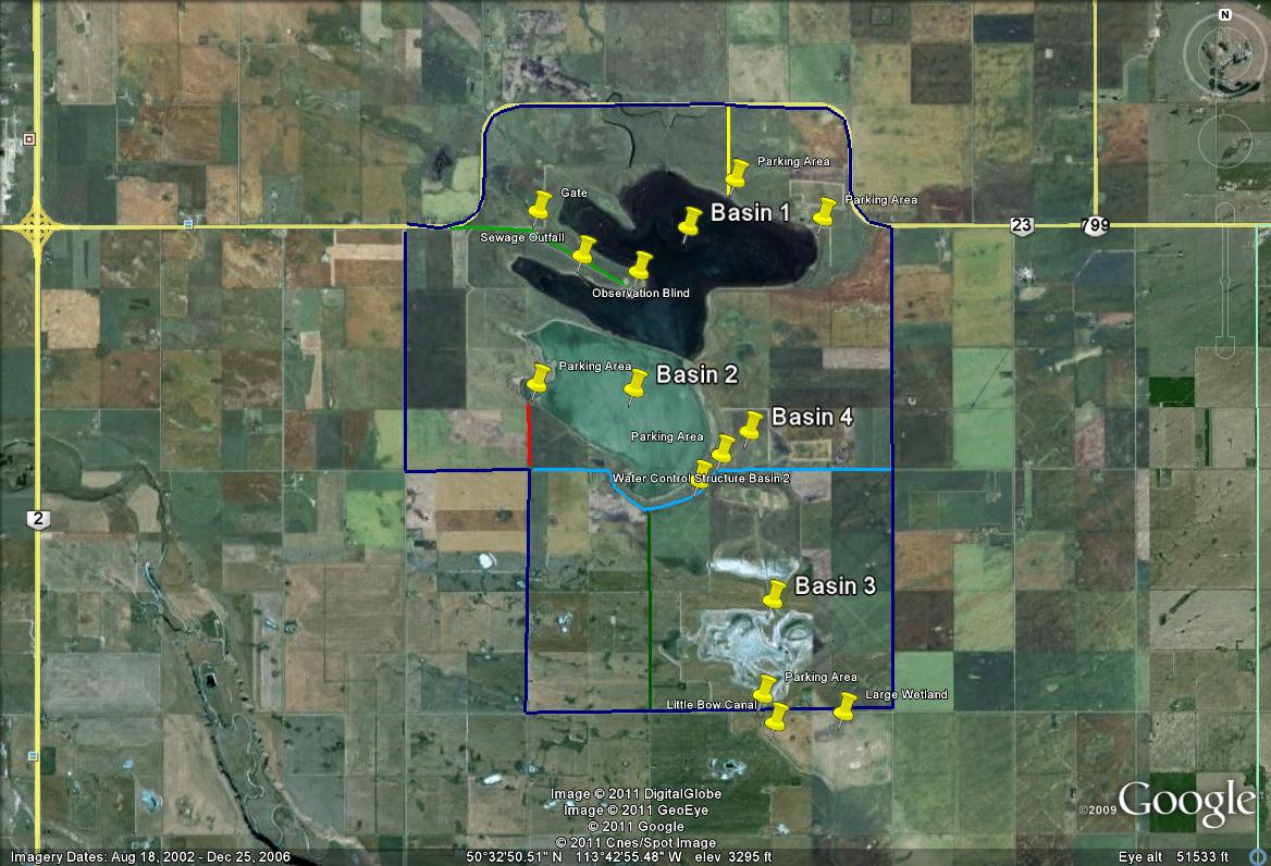 Frank Lake Map